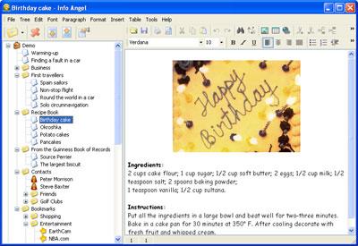 Capture d'écran Info Angel