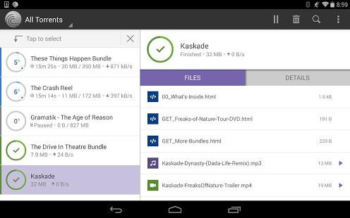 Capture d'écran BitTorrent® Pro – Torrent App
