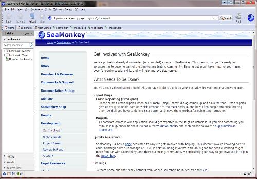 Capture d'écran SeaMonkey