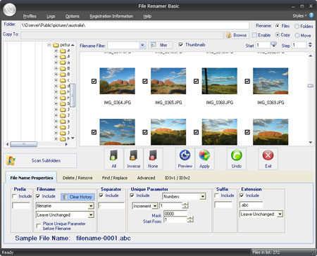 Capture d'écran File Renamer Basic