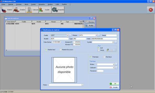 Capture d'écran FP Motoculture