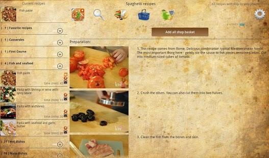 Capture d'écran Spaghetti recipes