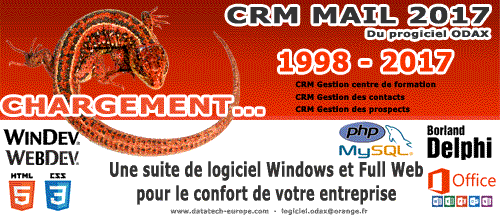 Capture d'écran CRM MAIL ODAX 2017