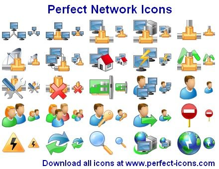 Capture d'écran Perfect Network Icons