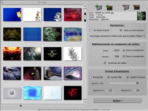 Capture d'écran Redim