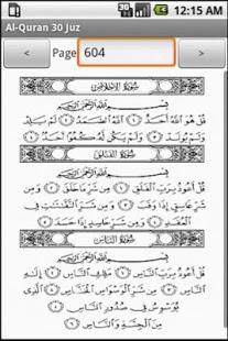 Capture d'écran Al-Quran 30 Juz free copies