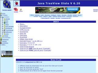 Capture d'écran tListe TreeView applet