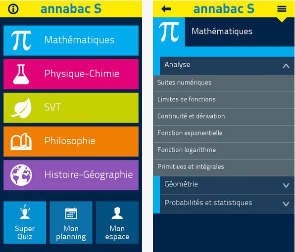 Capture d'écran Annabac 2016 Bac S iOS
