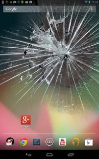 Capture d'écran écran cassé écran fissuré