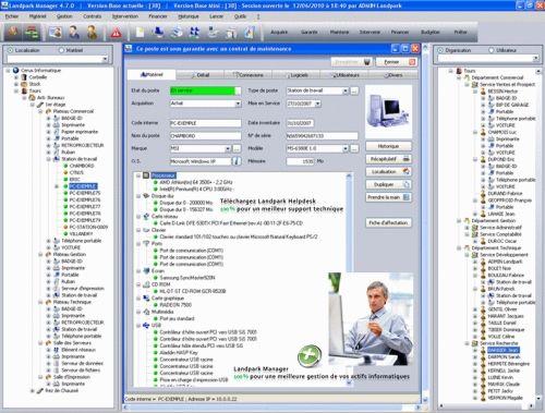 Capture d'écran LANDPARK MANAGER
