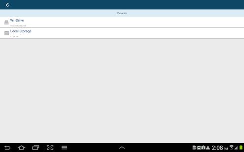 Capture d'écran Wi-Drive.