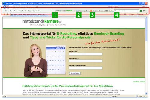 Capture d'écran Jobs-Toolbar