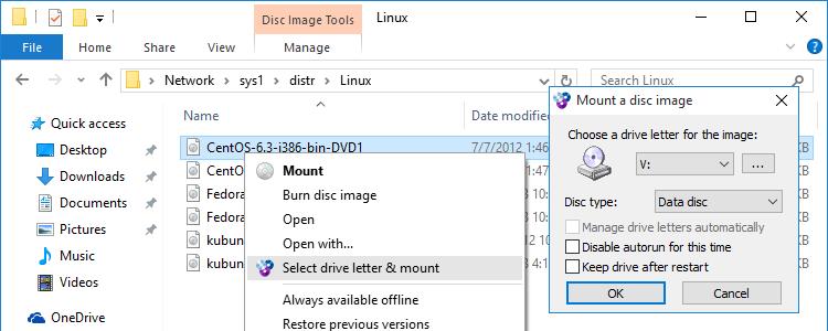 Capture d'écran WinCDEmu