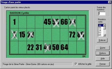 Capture d'écran LotoAssoc