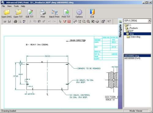 Capture d'écran Advanced DWG Print