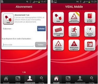 Capture d'écran VIDAL Mobile Android
