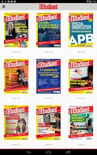 Capture d'écran L'Etudiant – Magazine