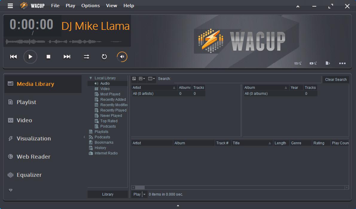 Capture d'écran WACUP (WinAmp)