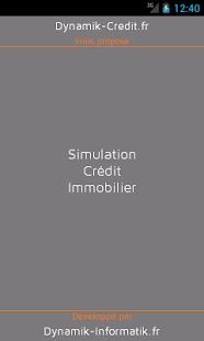 Capture d'écran Simulation Crédit Immobilier