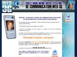 Capture d'écran Web-3G
