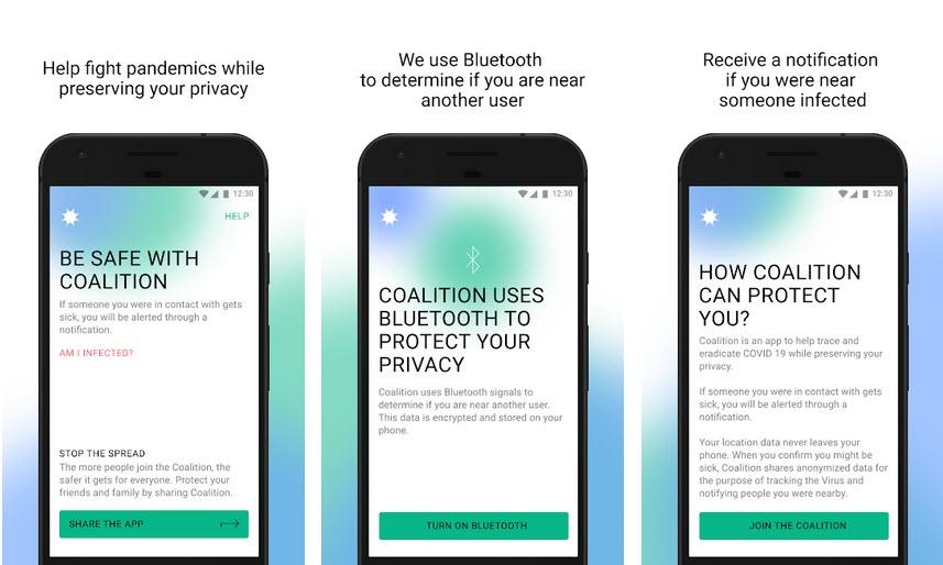 Capture d'écran Coalition Android