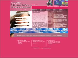 Capture d'écran ASV2 Edition Salons de Coiffure