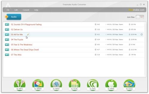 Capture d'écran Freemake Audio Converter