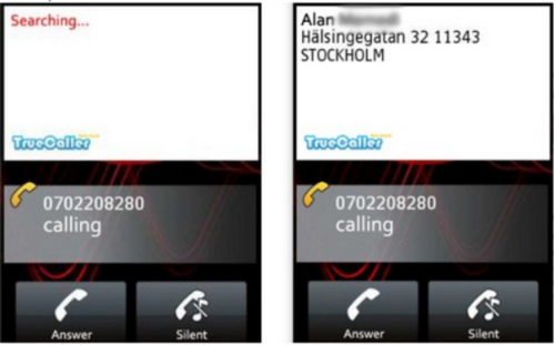 Capture d'écran Truecaller Android