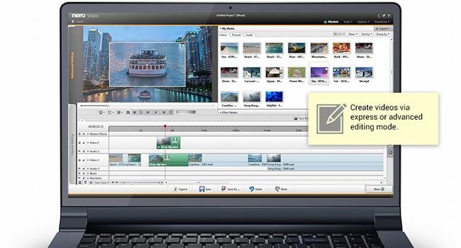 Capture d'écran Nero Video