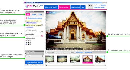 Capture d'écran PicMarkr Pro Image Watermarker