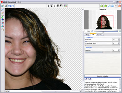 Capture d'écran AKVIS SmartMask