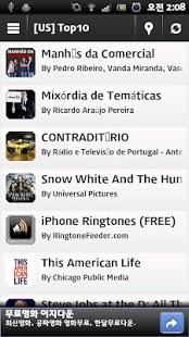Capture d'écran AndroidPod :Top Podcast Player