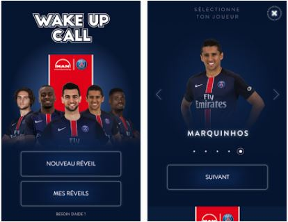 Capture d'écran Wake Up Call iOS