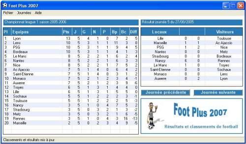 Capture d'écran Foot Plus 2007