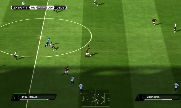 Capture d'écran FIFA 11
