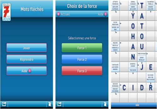 Capture d'écran Télé 7 Jeux – Mots fléchés iOS