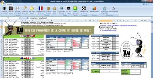 Capture d'écran RUGBY – Tableau Coupe du Monde 2007