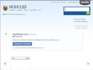Capture d'écran Logitheque pour FireFox