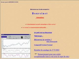 Capture d'écran Boursinet
