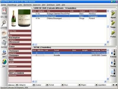 Capture d'écran EuroThink Cave à vin