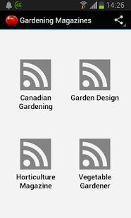 Capture d'écran Gardening Magazines