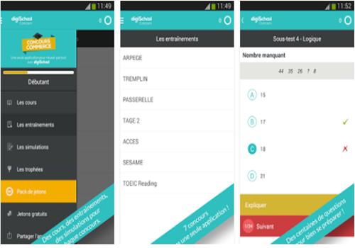 Capture d'écran Concours Commerce iOS