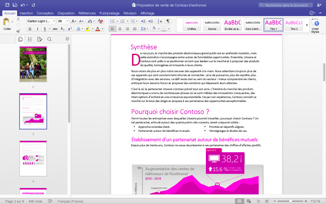 Capture d'écran Office Famille et Petite Entreprise 2016 pour Mac