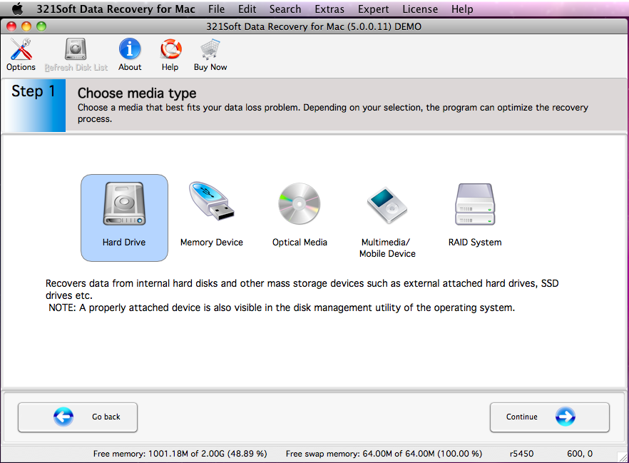 Capture d'écran 321Soft iPhone Data Recovery for Mac v3.8.8