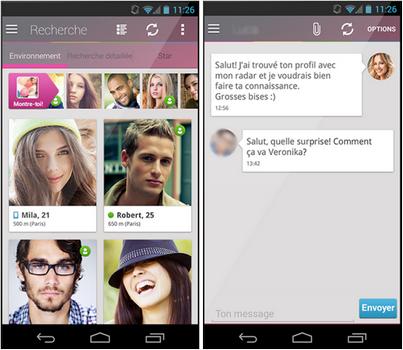 Capture d'écran Lovoo Android