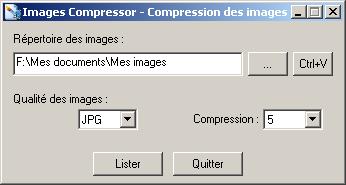 Capture d'écran ImagesCompressor