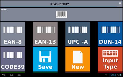 Capture d'écran Code barre créateur trial