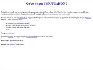 Capture d'écran Conjugaison