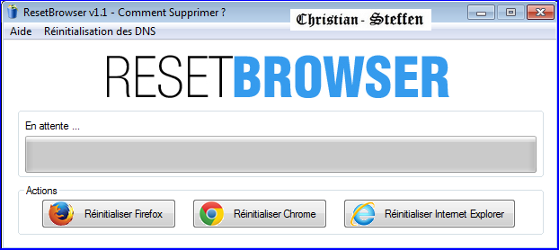 Capture d'écran ResetBrowser