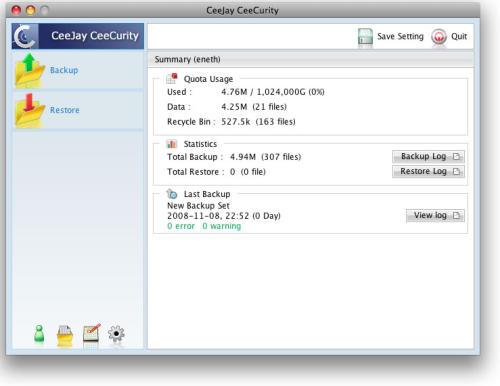 Capture d'écran CeeJay CeeCurity for Windows